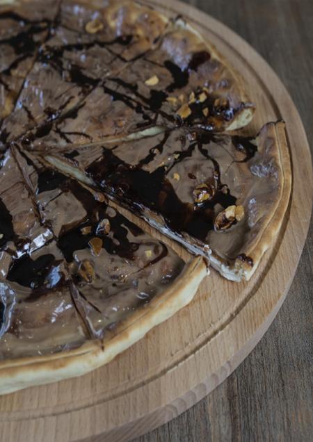 Шоколадно-сливочная пицца