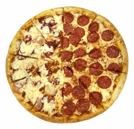 Пицца Большая С Колбаской (2 Вкуса)