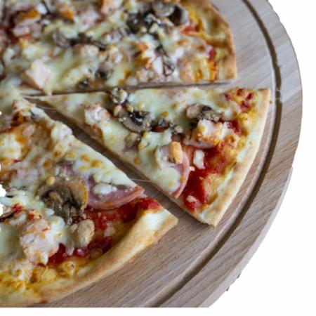 Пицца Ди Полло На Натуральном Томатном Соусе
