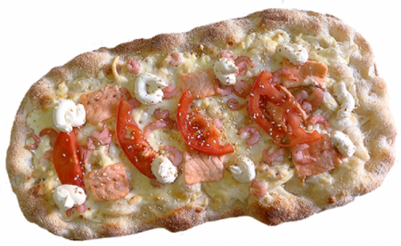 Пицца Римская с Семгой и Креветками 33*21 см